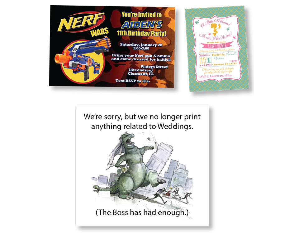 south lake quick print invitations announcements